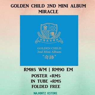 PRE-ORDER GOLDEN CHILD 2ND MINI ALBUM - MIRACLE