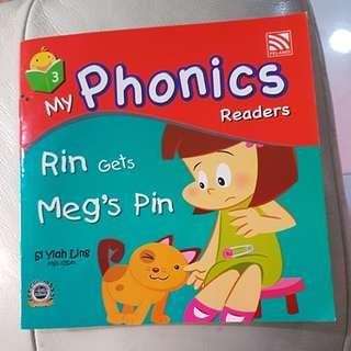 my phonics readers-rin gets meg's pin