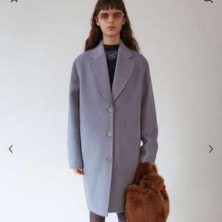 Acne 美美紫灰色的羊毛大衣外套34號