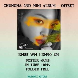 PRE-ORDER CHUNGHA 2ND MINI ALBUM - OFFSET
