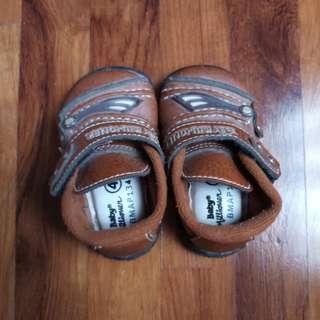 Sepatu kulit bayi new 3 bulan
