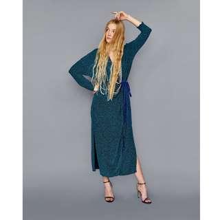Zara女裝 長袖 長洋裝 連身裙 長版連衣裙