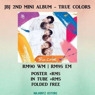 PRE-ORDER JBJ 2ND MINI ALBUM - TRUE COLORS