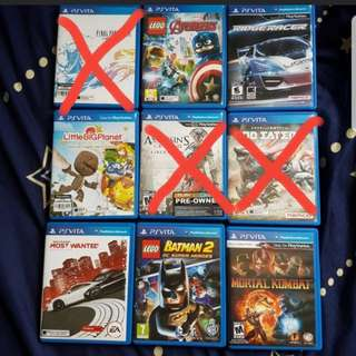 PSVITA GAMES FOR SALE QUICK DEALS NEGOTIABLE