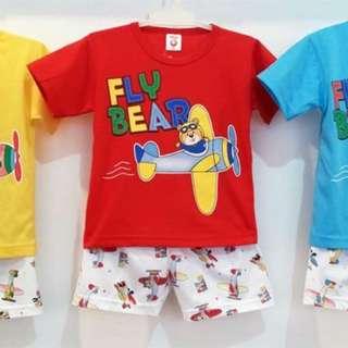 Setelan Kaos Anak Fly Bear