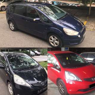 Honda Fit/Ford S-Max For Rent