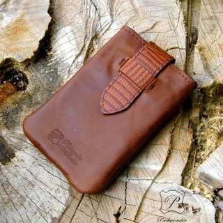 全手造真皮手機腰包 手機套 手機袋 工具袋 DIY Leather smartphone case pouch bag