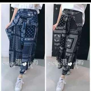 Pants Chiffon Fabric Freesize S-M