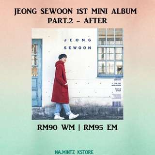 PRE-ORDER JEONG SEWOON 1ST MINI ALBUM PART.2 - AFTER