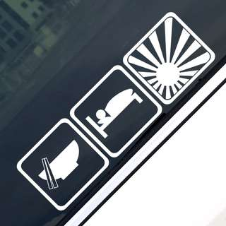 Eat Sleep JDM Car Sticker Decal