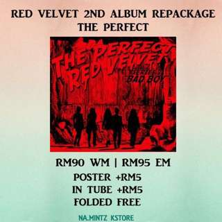 PRE-ORDER RED VELVET 2ND ALBUM REPACKAGE - THE PERFECT
