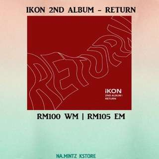 PRE-ORDER IKON 2ND ALBUM - RETURN
