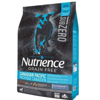 Nutrience Grain Free Canadian Pacific 5lb - $50.00 + Free Nutrience Sub Zero Canadian Pacific Treats