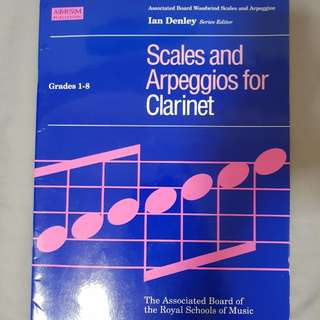 Graded scales and arpeggios for Bb clarinet