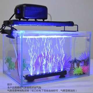 鱼缸水底led加氣幻彩燈