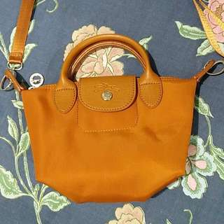 Longchamp yellow sling bag (replica)