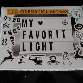 Cinematic Light Box A4 Size