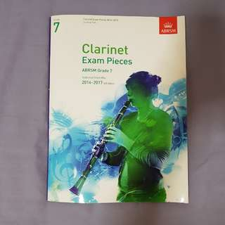 ABRSM exam pieces for Bb clarinet (Grade 7)
