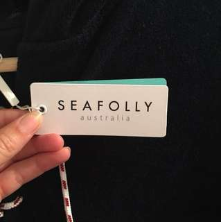 Seafolly navy beach cover