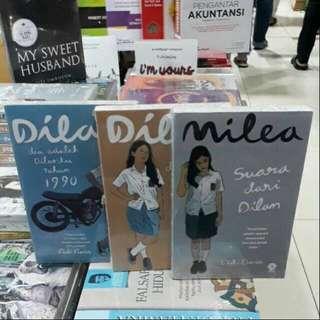 Satu paket novel DILAN