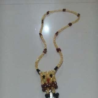 Beads key chain, id holder