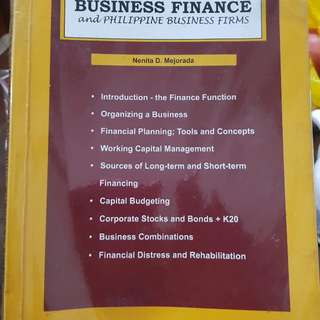 Business Finance and Philippine Business Firms by Mejorada