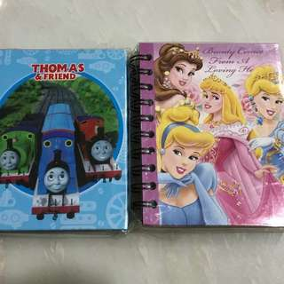 Disney Princess, Thomas & Friends Notebook