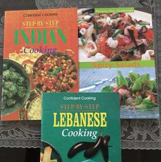 Cookbooks Confident cooking step by step Indian Lebanese Spicy Salad cookbooks