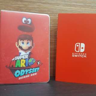 Super Mario Oddysey Passport Holder and Notepad