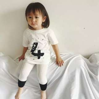 Toddler Baby Kids Girls Stripe Multicolor Cotton Stockings Ninth Pants Hosiery