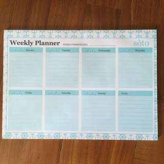 Turquoise Weekly Planner (47 Sheets)