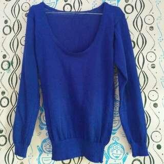 Blue Knitt Sweater