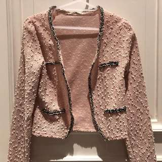Chanel Like Tweed Jacket Blazer