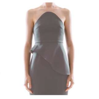 449c368265 Collate the Label Bonded Satin Bustier Dress
