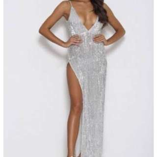 Abyss by abby beverly gown silver rent or buy