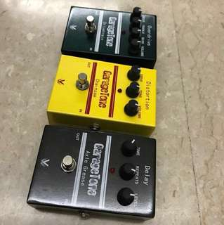 Overdrive ,distortion,delay