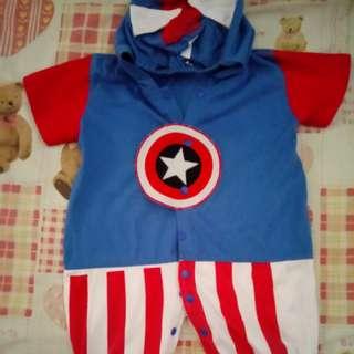 PL Baby Captain America Romper