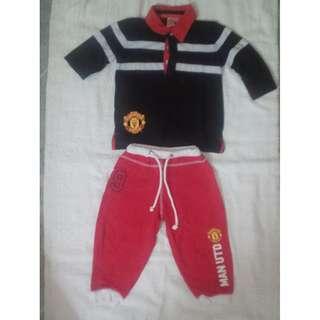 Manchester United Polo Shirt & Sweatpants