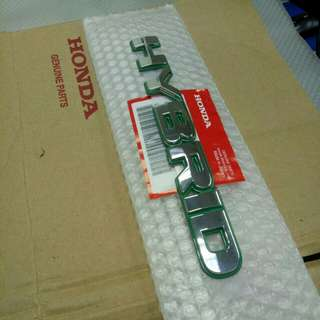Honda Emblem 'HYBRID' Green.  My Address is picture No.3