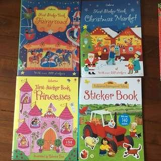 Usborne stickers books