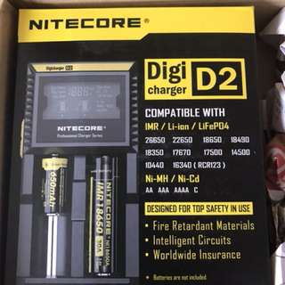 Nitecore D2 Charger for 18650 or AA AAA