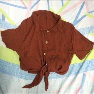 REPRICED! Tie knot crop top(never worn)