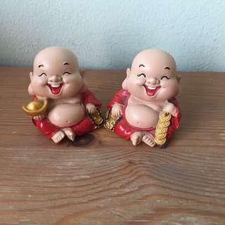 mini laughing buddhas home deco
