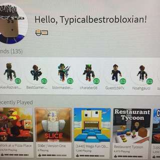Roblox account (lowered)