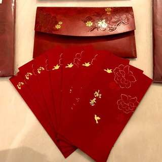 Rexine Leather pouch Red Packet 2018- Ang Pao with
