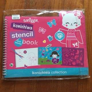 Brand New Smiggle Stencil Book