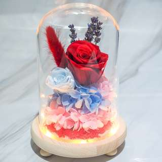 Red Preserved Rose Dome -OOS