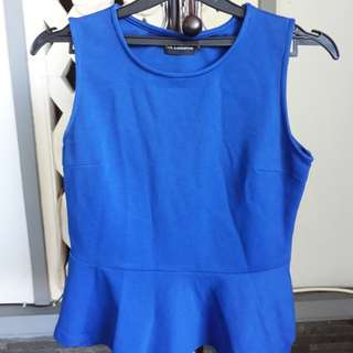 The Executive Blue Top Blouse