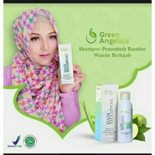 Hair Shampo Green Angelica Penumbuh Rambut & mengatasi ketombe yang berlebihan