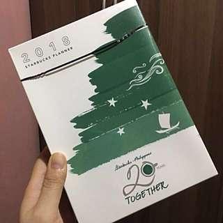 Starbucks Planner 2018 (L- DARK GREEN COVER)
